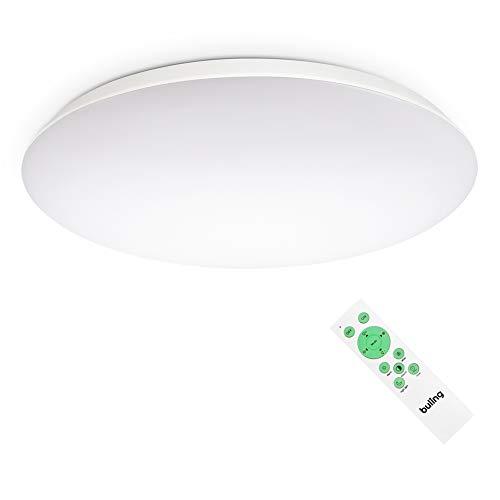 LED Deckenleuchte Dimmbar mit Fernbedienung, 24W 2640LM LED Deckenlampe Lichtfarbe und Helligkeit Einstellbar für Wohnzimmer Bad Büro, IP54 Wasserfest Ø30cm
