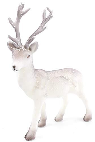 Hirsch stehend 27 cm Hirschfigur Dekohirsch Dekofigur für Weihnachten Weihnachtsdeko Weihnachtsfigur