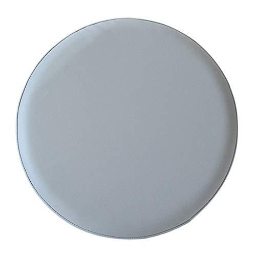 tianmen Runde Hocker-Abdeckung aus Kunstleder, verschleißfest, für Bürostuhl, Café, Buchhandlung, Restaurant, grau, 35 cm