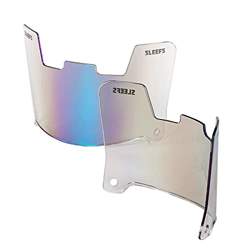 SLEEFS Football Helmet Visor - Anti-Fog Tinted Sun Shield for Eye Protection and Performance (Bifrost Rainbow)