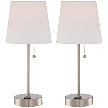 Justin 18  High Metal Accent Lamps with USB Ports Set of 2