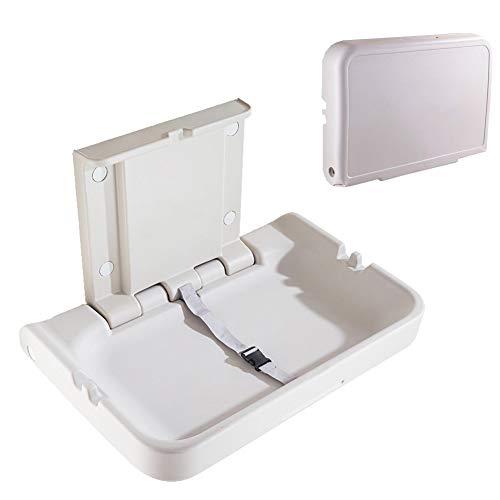 COOYT-JK Table à Langer Pliante Horizontale Murale - Support intégré et Ceinture de sécurité - Chargement Statique Maximum de 25 kg