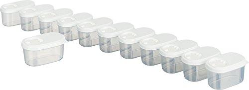 MiraHome Gewürzdosen Schüttdosen Streudosen Vorratsdosen Austrian Quality 0,14L (12 STK) Weiß