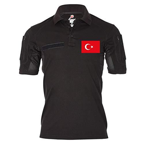 Copytec Copytec Tactical Poloshirt Alfa Türkei Türkiye Türkisch Spezial Einheit Fahne #20032, Größe:S, Farbe:Schwarz