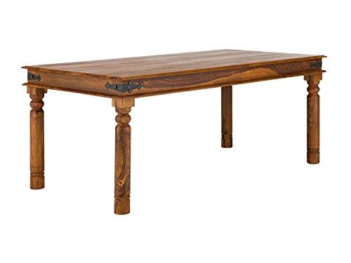 massivum Esstisch Merlin 180x76x90 cm aus Massiv-Holz Palisander und Akazie braun Sheesham rustikal