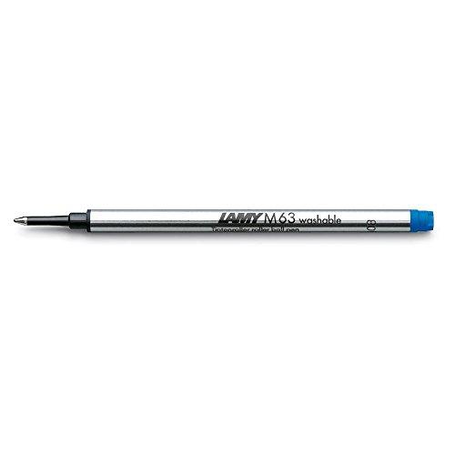 LAMY M 63 Mine 823 – Tintenroller-Mine aus Metall in der Farbe Blau (löschbar) für LAMY Tintenroller mit Kappe – Strichbreite B