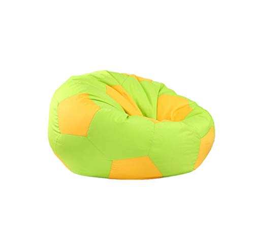 MLX Sac D'haricot, Canapé D'haricot Canapé Intérieur Créatif D'haricot Sac Salon Paresseux Amovible (Couleur : Green, taille : 80cm in diameter)
