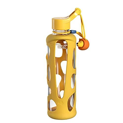 LEONARDO HOME Bambini 028830 Unisex Youth Drinking Bottle 500 ml Yellow Lion 27.3 cm