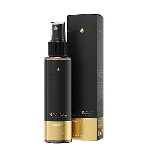 Nanoil Keratin Hair Conditioner: Acondicionador capilar bifásico, 125 ml, reparación y regeneración, fortalecimiento del cabello débil, salud perfecta