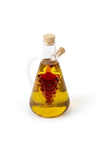 Fox Run Oil and Vinegar Bottle, Grapes, Clear