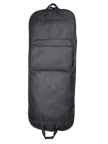 DALIX 60' Professional Garment Bag Cover for Suits Pants and Gowns Dresses (Foldable)