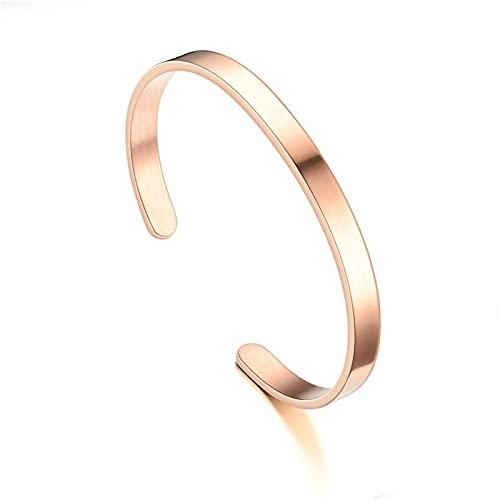 Pulseras clásicas negras de 6 Mm para hombre, brazaletes de acero inoxidable, brazalete de moda de lujo para hombres y mujeres, regalo de joyería