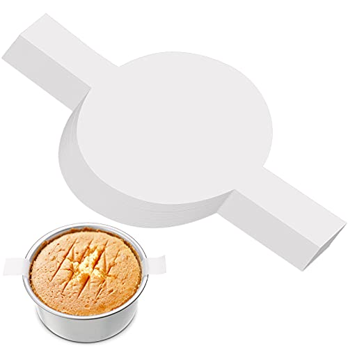 80 Rondas de Papel de Pergamino con Etiqueta de Elevación Revestimientos para Moldes de Pastel Rondas de Papel Sulfurizado Círculos Antiadherentes de Pergamino para Hornear (6 Pulgadas)
