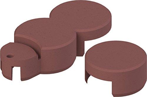 Bio-Rasenkante RKS-ZIEGELROT-SET 2 Rasenkantensteine, 22 x 10 x 5,5 cm, ziegelrot
