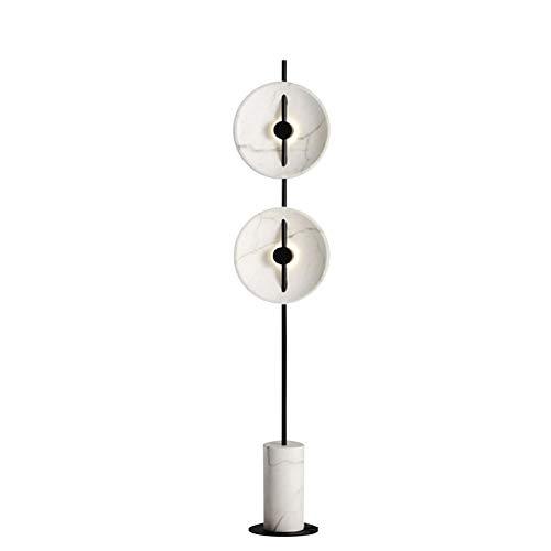 Lámpara de Pie LED, Lámpara Decorativa Vertical de Hierro Forjado de Alta Gama Alta, Lámpara Giratoria, Base de Mármol, Adecuado para Villas, Salas de Estar, Dormitorios