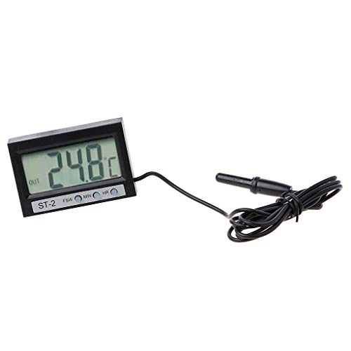 siwetg in Out LCD-Dual-Way-Digital-Auto-Thermometer Und Uhr ST2