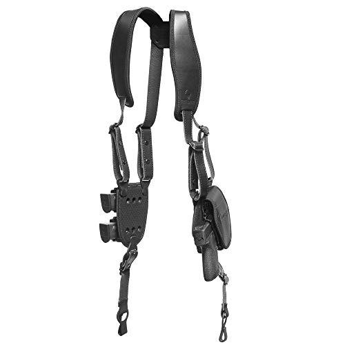 Alien Gear holsters ShapeShift Shoulder Holster (Black Leather) Springfield XDs 3.3 (Left Handed)(9mm/.40 Cal Single Stack)