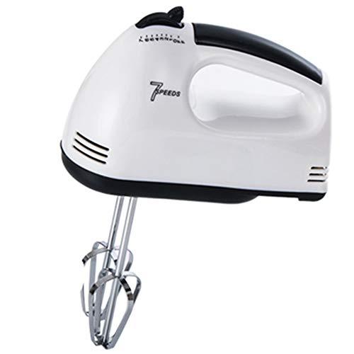 WHOJA Batteur à main polyvalent 7 vitesses Fouet batteur à oeufs pour le gâteau de cuisson de cuisine Mini batteur à crème d'oeuf Alimenté 180W Mousseur à lait à la crème (Color : White)