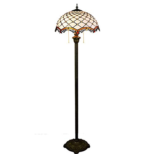 Stained Glass Living Room Dining Bedroom Floor Lamp, Living Room, Bedroom, Dining Room, Study, bar Vertical Floor Lamp Floor Standing Lamp Tall Stained Glass Shade