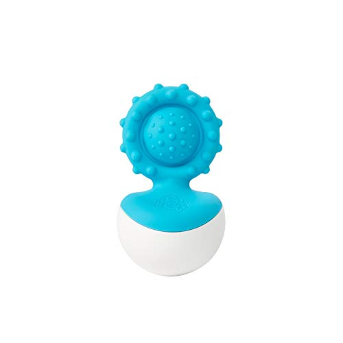 Fat Brain Toys Dimpl Wobbl - Blue Baby Toys & Gifts for Ages 0 to 1