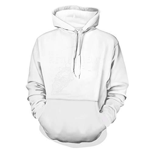 Damkelly Store - Sudadera con capucha para hombre, diseño retro, color blanco