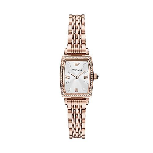 Reloj para mujer, de Emporio Armani, de acero inoxidable en tono oro rosa y con dos agujas, AR11406