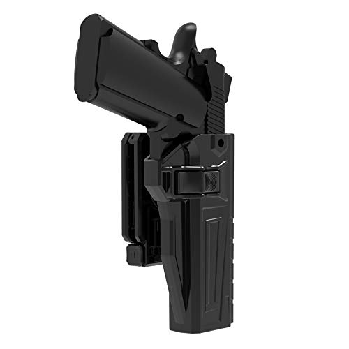 """Colt 1911 5"""" Holsters without Rail, Colt 1911 .45/Taurus 1911/SA 1911/Springfield 1911 OWB Holster, 360° Adjustable Open Carry Belt Holster Also Fits Variants 1911 5"""" Pistol, Rapid Release Holster, RH"""