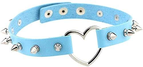 DUEJJH Co.,ltd Necklace Necklace Heart Spike Collar Women Harness Choker Necklace for Women Punk Rivet Leather Chocker Gothic Jewelry