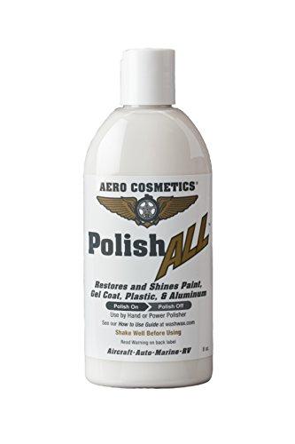 Aero Cosmetics Polish All Aircraft Grade Paint, Aluminum & Plastic Window Polish for Your Car Boat RV Motorcycle 8oz …