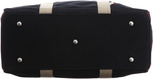 [ハンプコウボウ]トートバッグTRIPLINEシリーズショルダーベルト付3X83-01クロ
