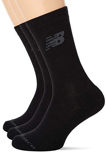 New Balance 3 Pack Crew Socken, Schwarz, Large
