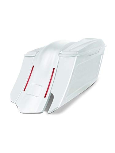 Best Price Harley Davidson 6 down and 9 out angle saddlebags and LED overlay fender kit right side...