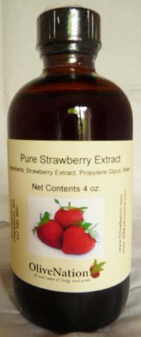 Strawberry Extract 4 oz, 4 Ounce