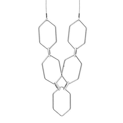 Collar Dansk Smykkekunst Alexa chapado en plata, ref. 9H9283