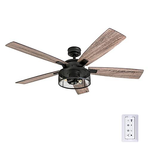 """Honeywell Ceiling Fans 50614-01 Carnegie Ceiling Fan, 52"""", Matte Black"""