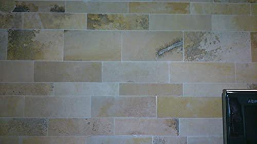 Natursteinplatten, Solnhofener Bahnenverbände, Kanten geschnitten für Wände