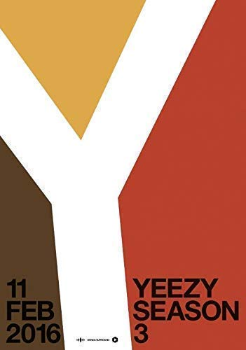 Generic Kanye West Yeezy Season 3 Foto Poster The Life Pablo Adidas 009 (A5-A4-A3) - A5