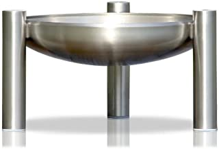 ricon Edelstahl Feuerstelle, Durchmesser 70 cm, deutsche Herstellung