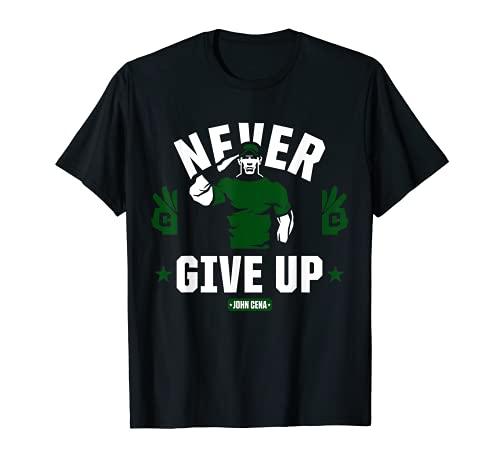 WWE John Cena nunca renunciar a Salute_H Camiseta