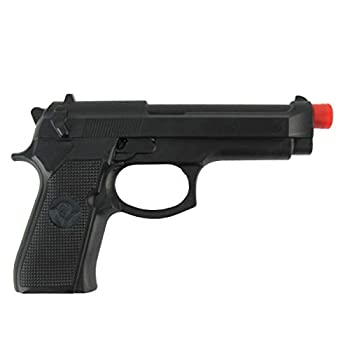 Treasure Gurus Fake Black Rubber Handgun Realistic Pistol Movie Theater Prop Costume Accessory Gun