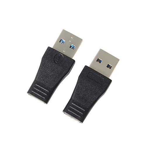 Packung mit 2 Stück USB-C USB 3.1 Typ C Buchse auf USB 3.0 A Stecker Adapter Konverter Unterstützung Datensynchronisation und Aufladung (USB C Buchse auf USB 3.0 Stecker)