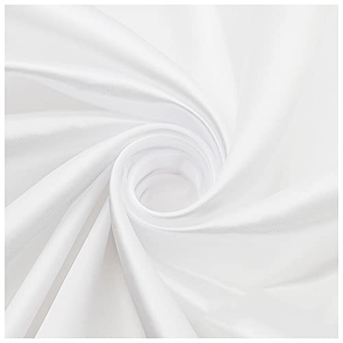 Tela De Satén Tela De Seda De Alta Gama Tela De Seda Por Metro Blanco Puro Utilizada Para Pijamas De Satén Tela De Forro De Caja De Regalo De Ropa Rayón De 1,5 M De Anc(Size:1.5M*3M,Color:Blanco puro)