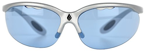 Ektelon More Game Air Racquetball Eyewear-Silver/Blue Lenses