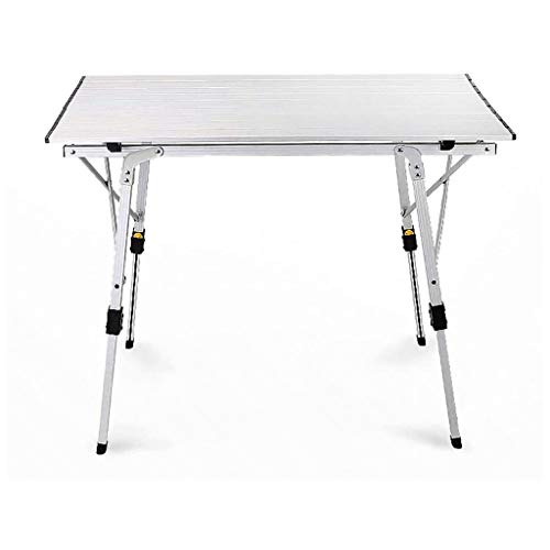 UNU_YAN Furniture Aluminum Adjustable Outdoor Lifting Folding Table Camping Outdoor Lightweight for Camping, Beach, Backyards, BBQ, Party and Picnic Folding Tables