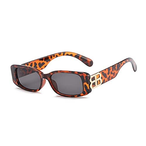 KAITUO Gafas de sol de lujo con marco cuadrado pequeño, para mujer, personalidad masculina B con letras UV400 (color: C2)