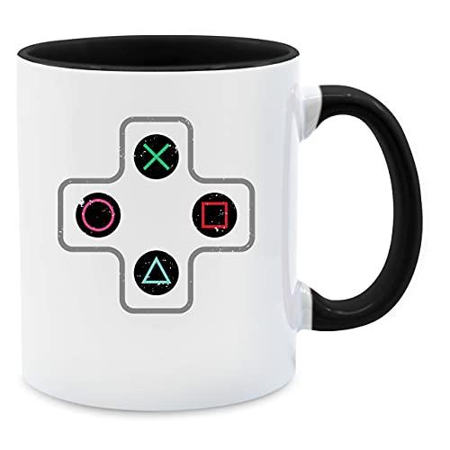 Statement Tasse mit Spruch - Gamer Controller - Unisize - Schwarz - game tasse - Q9061 - Kaffeetasse und Teetasse