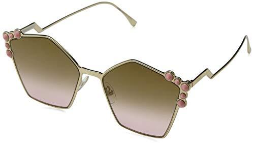 Fendi Women's Geometric Sunglasses, Rose Gold/Brown, One Size