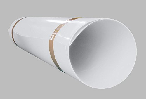 A+H Hart PVC Kunststoffplatte 2000x1000x2 mm mit einseitiger Schutzfolie - Farbe Weiß