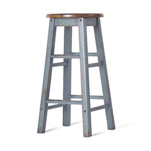 XQAQX kruk massief hout rustiek retro teller bar stoelen stoelen zitten, Pub Cafe klassieke vrijetijdsontbijt gastronomie barkrukken stool