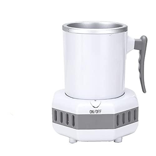 JJINPIXIU Enfriador electrónico, mini enfriador portátil de taza rápida de refrigeración, refrigerador de escritorio de enfriamiento rápido Enfriador de bebidas de una sola botella, seguro e higiénico